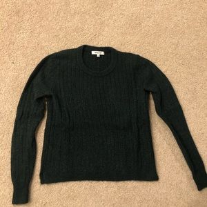 Madewell dark forest crop sweater
